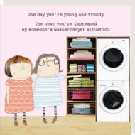 Rosie Made a Thing 'Washer/Dryer' Card